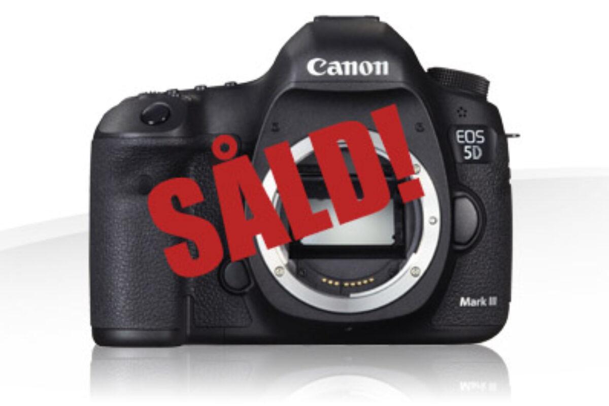 Canon 5D Mark III till salu!
